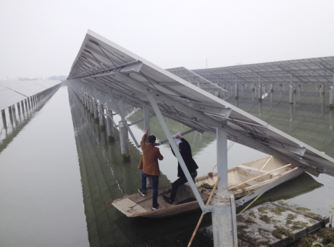 太阳能光伏水面支架系统